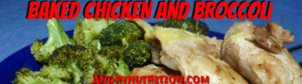 baked chicken thighs broccoli