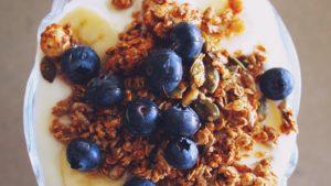 Ways to increase your protein intake berries oatmeal yogurt granola