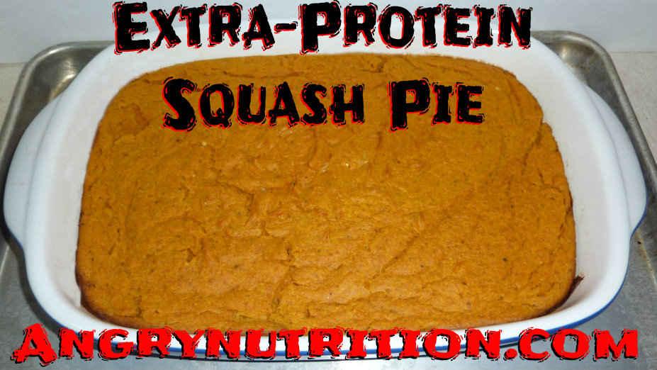 extra protein squash pie