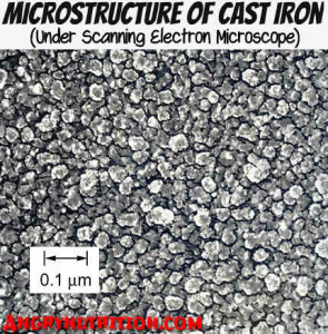 micro structure cast iron cookware