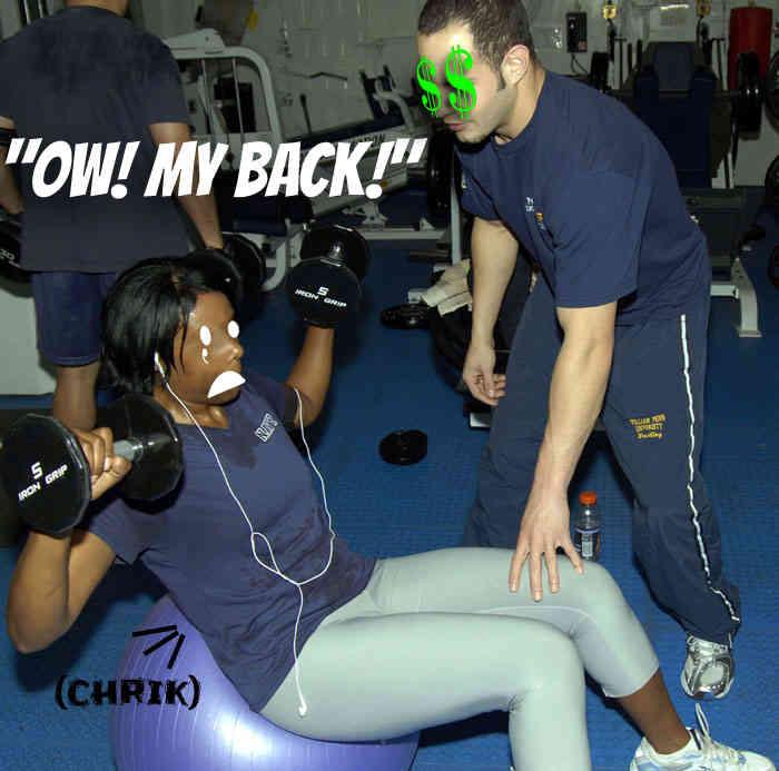 gym membership bad trainer