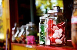 jelly fruit in jars