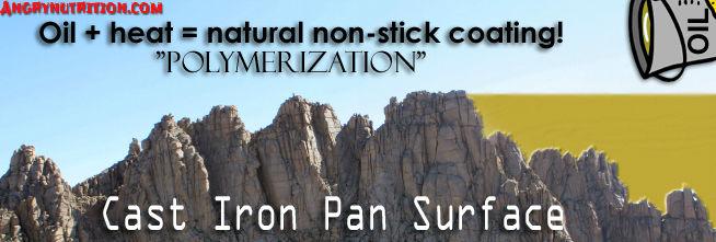cast iron cookware mountain polymerzation